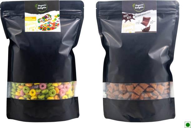 Organic Delights Healthy Breakfast Combo(Crispy Bites Chocolate + Froot Loops) ( 500gms + 400gms)