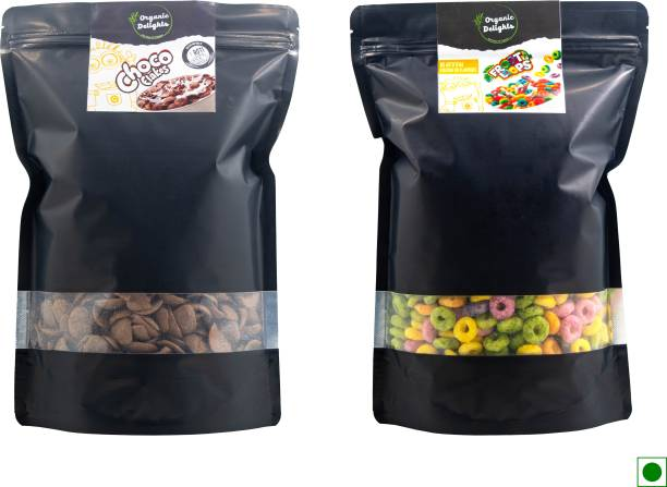 Organic Delights Healthy Breakfast Combo(Froot Loops + Choco Flakes) (200gms + 200gms)