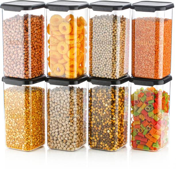 Sedulous 100% Unbreakable Air Tight Modular Kitchen Plastic Storage Containers Jars Canister Box Combo Set  - 1500 ml Plastic Grocery Container