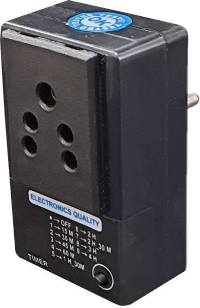 Electronics Quality Timer Socket PlugProtect Your Battery Equipment from Over Charge (Up to 200 Watt Charger) Indoor Plug-In Electronic Timer Switch