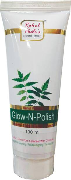 Rahul Phate's Research Product Glow-N-Shine Neem Tulsi  For Glowing Skin 100ml Face Wash
