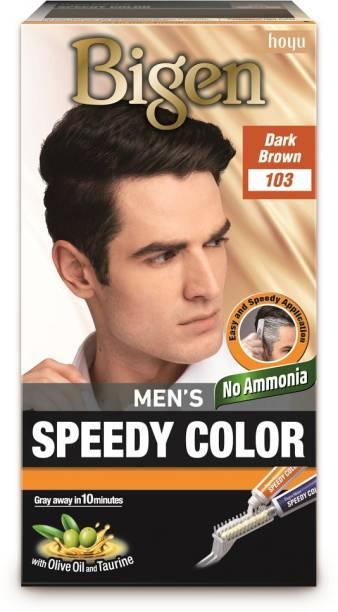 Bigen Men's Speedy Color 103 , Dark Brown