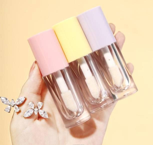 BLUSHYBEE COSMETICS 3PCS -Empty Transparent Thick Walled Fat Lip Gloss Tube