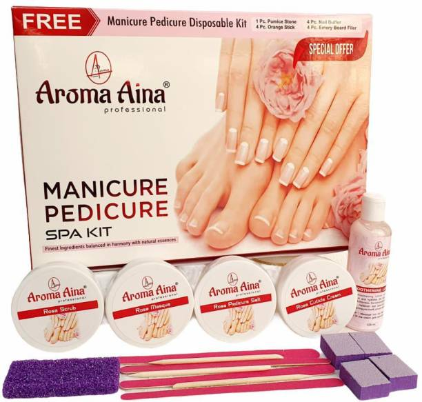 AROMA AINA Professional Manicure Pedicure SPA Kit Special Offer FREE Manicure Pedicure Disposable Kit Inside Box