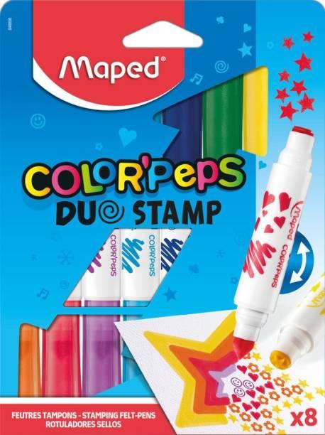 Maped Color'Peps Duo Stamp 8 Felt Pen Set