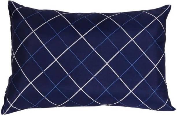 KALPANA INDUSTRIES Premium Printed Soft Microfibre Solid Sleeping Pillow ( Microfibre Stripes Sleeping Pillow Pack of 1