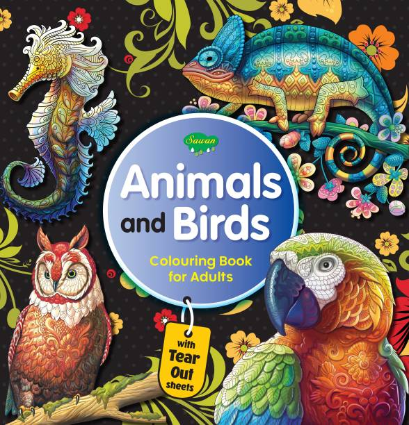 Animals And Brids Colouring Book For Adult | With Tear Out Sheets