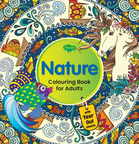 Nature Colouring Book For Adult | With Tear Out Sheets