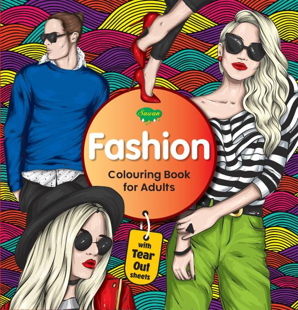 Fashion Colouring Book For Adult | With Tear Out Sheets