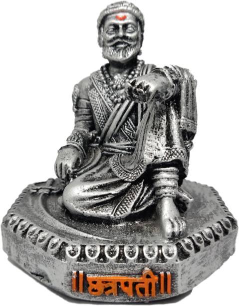 Chakor Creation Chhatrapati Shivaji Maharaj Murti/Statue for Home Decore/ Office Decor/ Gifting Decorative Showpiece - 9 cm Decorative Showpiece  -  9 cm
