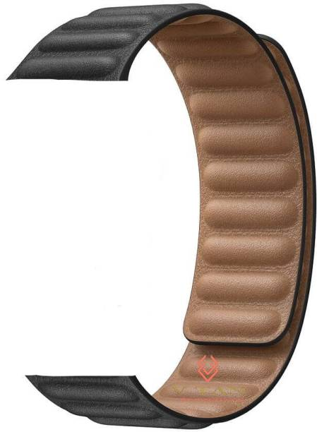 V-TAN Magnetic Loop Leather Watch 20mm Band for Samsung Watch Active/Active 2, Huwei GT2,AmzeFit,VvoActive 3 & Any Smart Watch with 20mm Lugs Smart Watch Strap