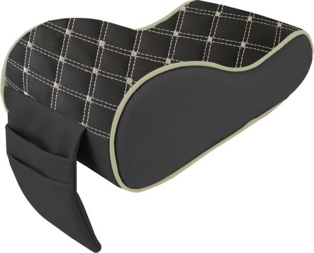 AutoFurnish 7D Premium Car PU Leather Memory Foam Center Console Armrest with Pocket (Coffee Beige) Car Armrest