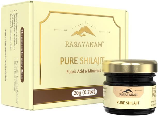 Rasayanam Pure Himalayan Shilajit/Shilajeet Resin, From Gilgit Mountains ,Tested for Safety