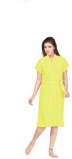 ovida Yellow Medium Bath Robe