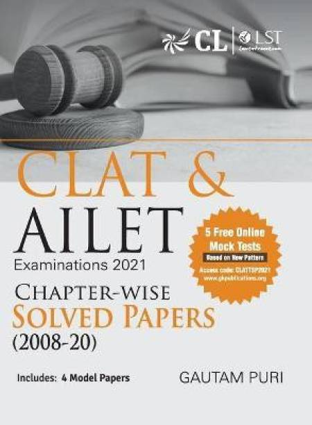 Clat & Ailet 2021 Chapter Wise Solved Papers 2008-2020