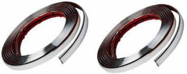Love Me chrome For car Interior Decorating and Styling Strips set of 2 Car Beading Roll For Window, Grill and Garnish Cover