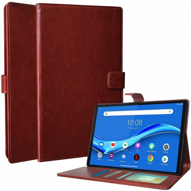 Mobilive Flip Cover for Samsung Galaxy Tab Active 2 (8 inchT395) Leather Case with Media Stand and Wallet Flip Cover