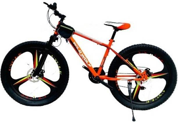 """Wild Wolf SEMI FAT 21 SPEED - 3"""" TIRE 26 T Fat Tyre Cycle"""