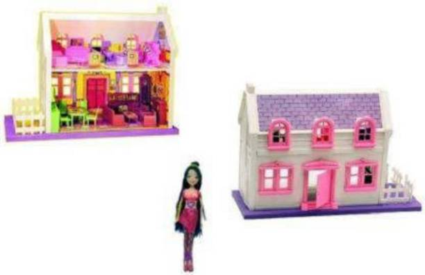 s yuvraj 34 pieces Complete Doll House Play Set For Kids (Multicolor) (Multicolor) (Multicolor)