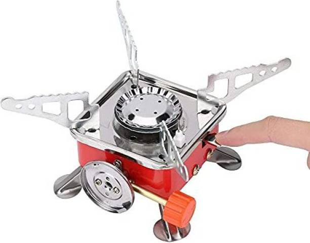 krenz Outdoor Camping Picnic Gas Stove Mini Foldable Gas Burner Cooking Tool Furnace Stainless Steel Manual Gas Stove