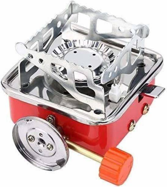 krenz Portable Picnic, Camping Stainless Steel Gas Stove Ultra Light Folding Furnace Outdoor Metal Cooking Gas Burners Folding Stove With Storage Bag Stainless Steel Manual Gas Stove