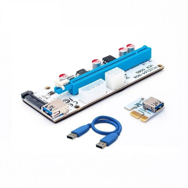 Hi-Lite Essentials NVIDIA 16x to 1x Powered PCIe Riser Adapter Card 60cm USB 3.0 Extension Cable - GPU Riser Adapter - Mining Bitcoin, Ethereum ETH Zcash ZEC Monero XMR 16 GB GDDR4 Graphics Card