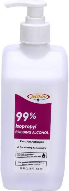 Sofskin  99% Isopropyl Alcohol 475 ML with Jet Spray - American Brand Hand Sanitizer Bottle