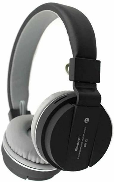 TANISHKA EXPORT SH12 10 MM Driver SD Card Support Ultra Bass Boost Bluetooth Headset