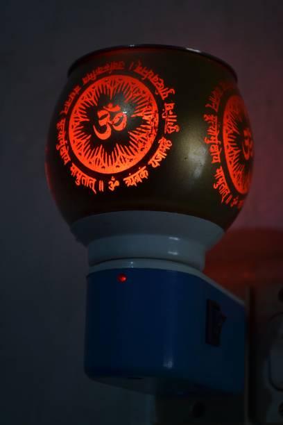 Shree Krishna Ceramic Kapoor Dani And Aroma Oil Burner Cum Night Lamp with Switch Glass Incense Holder Glass, Plastic Incense Holder Set