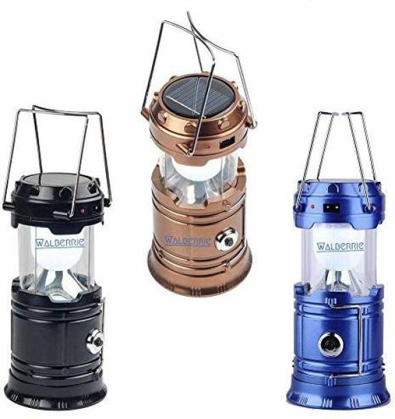 Walberrie Rechargeable camping Lenten, Aluminum Material Table Lantern, Multicolored (Pack o 1) Multicolor Plastic Table Lantern