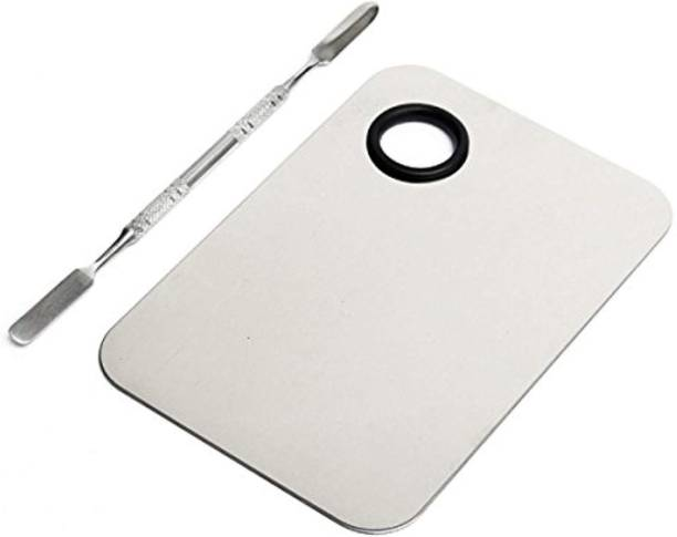 Yacht Man Professional Stainless Steel Makeup Mixing Blending Palette With Spatula