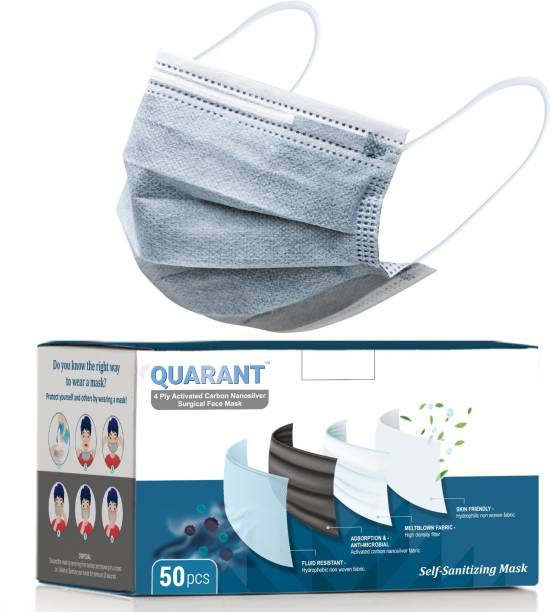 QUARANT Q4CN Water Resistant Surgical Mask With Melt Blown Fabric Layer