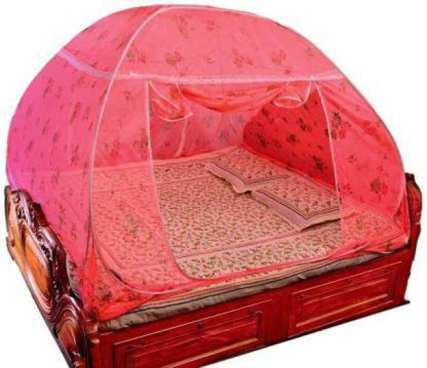 pamworld Polyester Adults Polyester Adults SEHS001 Mosquito Net (pink printed) Mosquito Net