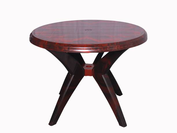 malabar Cello Presto Round Dining Table (Rosewood) Plastic 4 Seater Dining Table