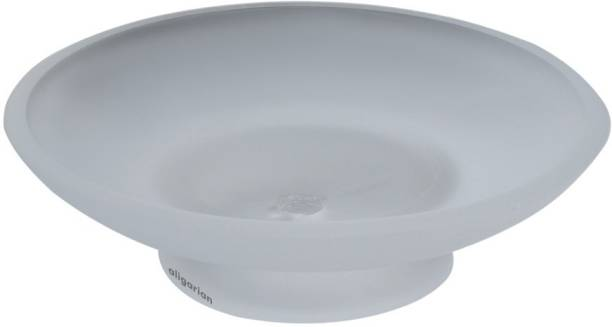 aligarian Glass Round Soap Dish for Bathroom
