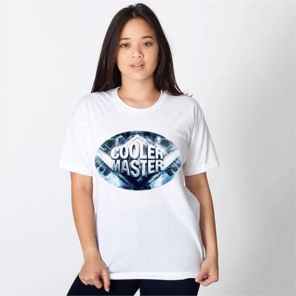 HamsaMART.com Printed Women Round Neck White T-Shirt