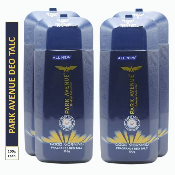 PARK AVENUE GOOD MORNING Deo TALC 100g × 4 PACK OF FOUR