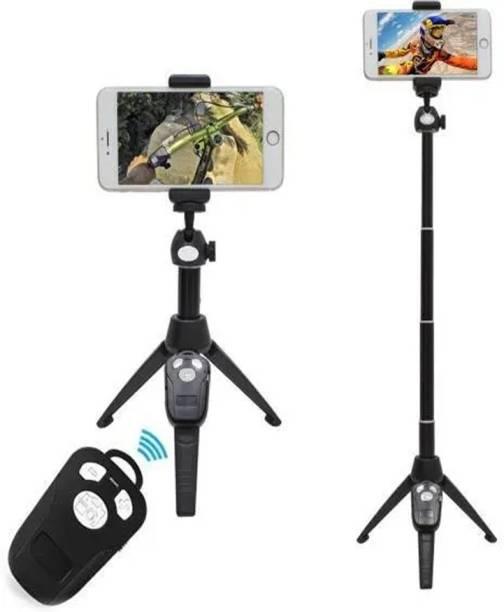LUKECAGE H8 Wireless Bluetooth Remote Extendable Selfie Stick Monopod phone stand holder Monopod, Tripod Bracket, Universal Portable Bluetooth 3 Axis Gimbal