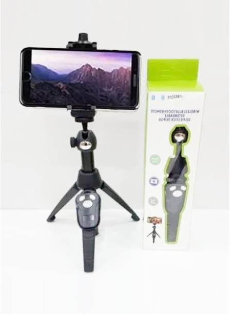 LUKECAGE H8 Professional Universal Premium Portable Bluetooth Tripod Selfie Stick Aluminium Rod Monopod Handheld Lightweight Selfie Tripod 3-in-1 with Remote Shutter for All Smartphones Android & iOS Tripod, Monopod, Tripod Kit, Monopod Kit 3 Axis Gimbal