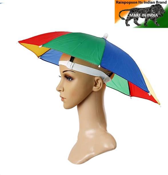 Rainpopson Hat Umbrella for Kids Girls, Boys and Men or Women Cap Umbrella for Kids Umbrella