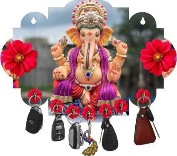 newshivcollection Ganesha Beautiful Home Wooden Key Holder Wood Key Holder