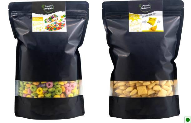 Organic Delights Healthy Breakfast Combo(Crispy Bites Mango + Froot Loops) ( 250gms + 200gms)
