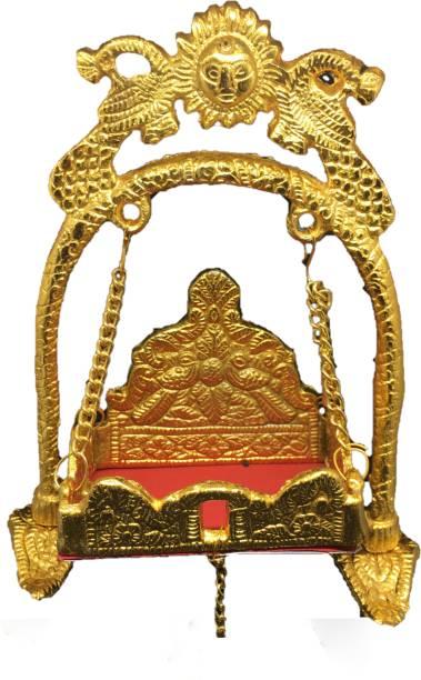 UAPAN Krishna Laddu Gopal Jhula Temple Aluminium Pooja Chowki