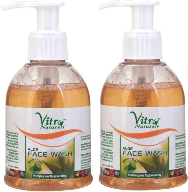 Vitro Naturals Aloe Pack of 2 Face Wash
