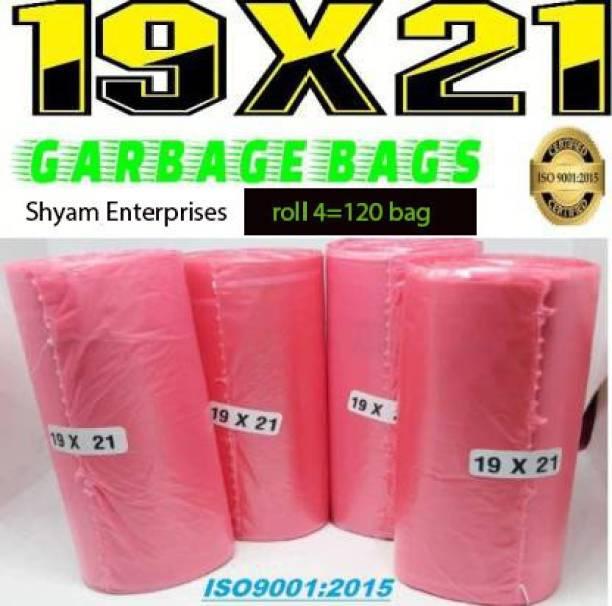 shyam enterprises red 19 x 21 PACK OF 4 ( 120 BAGS ) Medium 14 L Garbage Bag