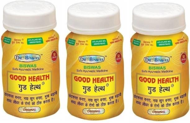 Nurved Dr Biswas Good Health Ayurvedic Medicine (Pack of 3)