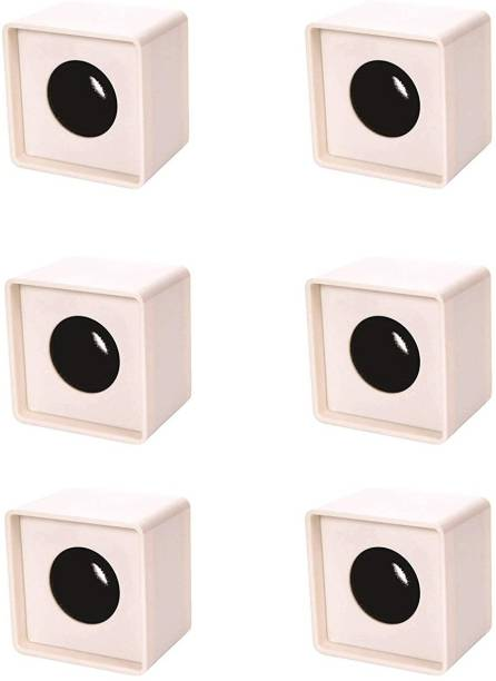 WON New Branded ABS Injection Molding Square Cube Interview Mic Microphone Logo Flag Station Logo -White PACK OF 6 Holder