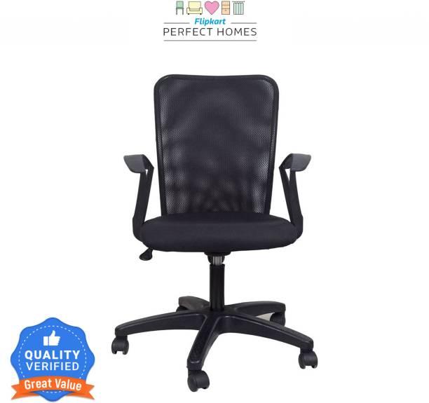 Flipkart Perfect Homes Fabric Office Arm Chair