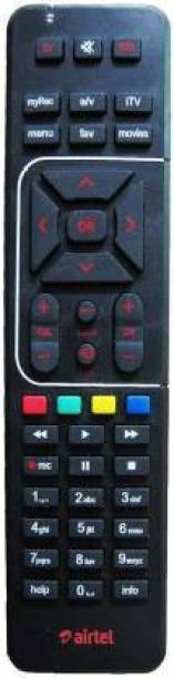 SHAILRON 100% Genuine HD Recording Universal (Works With All Tv) Airtel Remote Controller