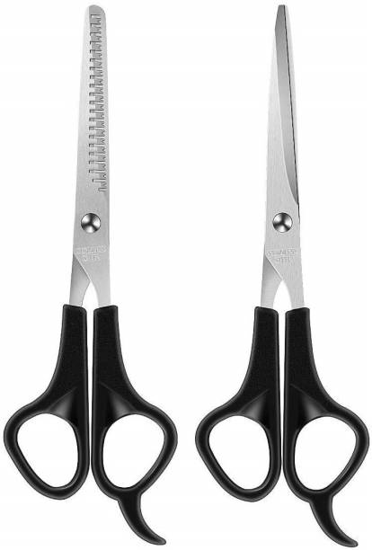 Devo Combo of 2 Hair Cutting and Trimming Scissors for Salon and Home Use for Men and Women (6.5 inch) Scissors